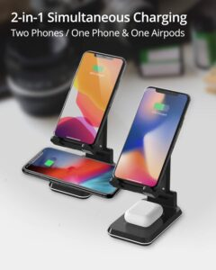 image of RAEGR Arc 1200 [2-in-1] Adjustable Wireless Charging Stand [with 2 Type-C Cables]