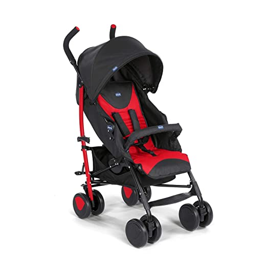 Chicco Echo Stroller with Bumper Bar, toddlers, 0m+, Pram for boys and girls (Red, Scarlet)