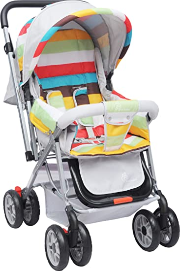 R for Rabbit Lollipop Lite Colorful and Pram for Baby|Kids|Infants|New Born|Boys|Girls of 0 to 3 Years(Rainbow Multi Color)